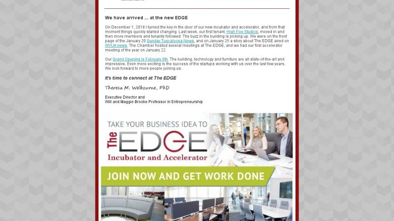 EDGE Newsletter – January 2019